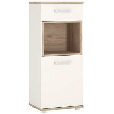 4kids 1 Door 1 Drawer Narrow Cabinet (Opalino Handles)
