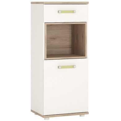 4kids 1 Door 1 Drawer Narrow Cabinet (Lemon Handles)