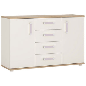 4Kids 2 Door 4 Drawer Sideboard Lilac Handles