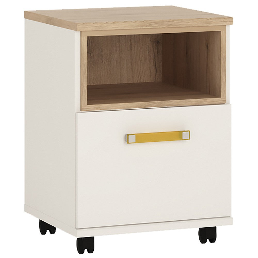 4Kids 1 Door Desk Mobile Orange