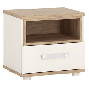 4kids 1 Drawer Bedside Table (opalino Handles)