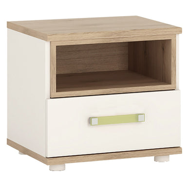 4kids 1 Drawer Bedside Table (Lemon Handles)