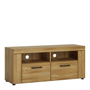 Cortina 2 drawer TV cabinet in Grandson Oak