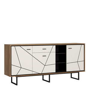 Brolo 3 door 1 drawer wide sideboard