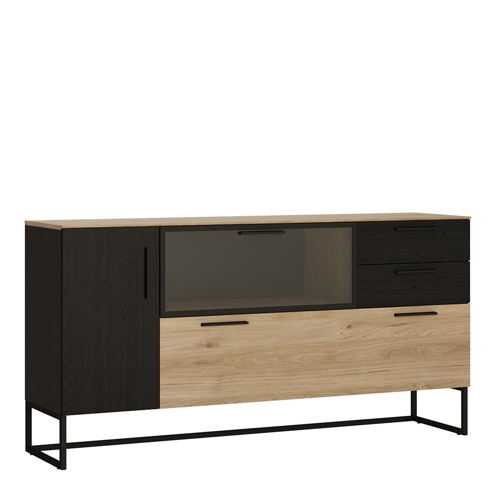 Cordoba Glazed Sideboard - 3 Doors 2 Drawers