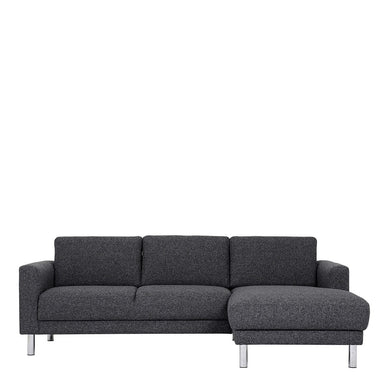 Cleveland Chaiselongue Sofa (RH) in Nova Anthracite