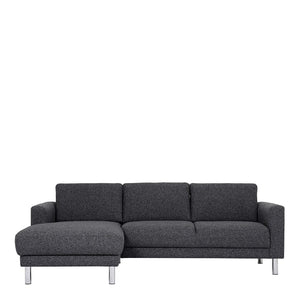 Cleveland Chaiselongue Sofa (LH) in Nova Anthracite