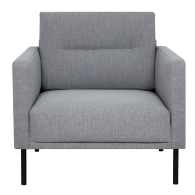 Larvik Armchair - Grey, Black Legs
