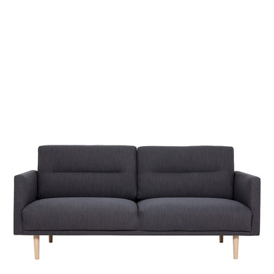 Larvik 2.5 Seater Sofa - Antracit, Oak Legs