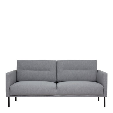 Larvik 2.5 Seater Sofa - Grey, Black Legs