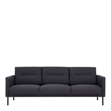 Larvik 3 Seater Sofa - Antracit, Black Legs
