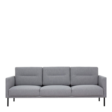 Larvik 3 Seater Sofa - Grey, Black Legs