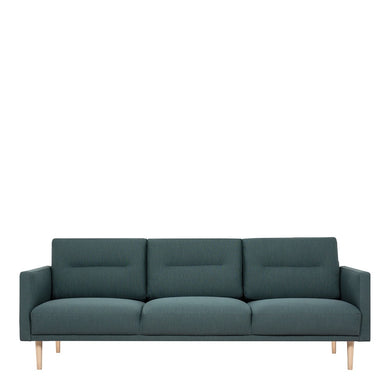 Larvik 3 Seater Sofa - Dark Green, Oak Legs