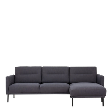 Larvik Chaiselongue Sofa (RH) - Antracit , Black Legs