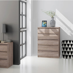 Naia Chest of 5 Drawers in Truffle Oak