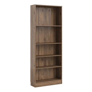 Basic Tall Wide Bookcase (4 Shelves) in Walnut