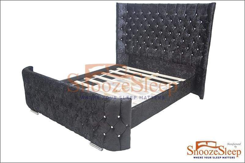 Imperial Sleigh Bed (Diamante)