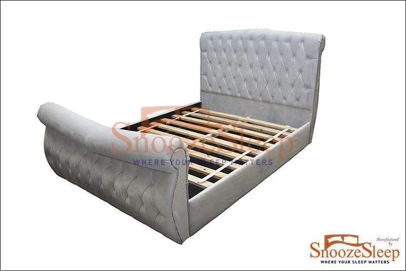 Elite Sleigh Bed (Buttons)