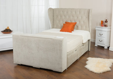 Image Deluxe TV bed (WITH BUTTONED HEADBOARD)