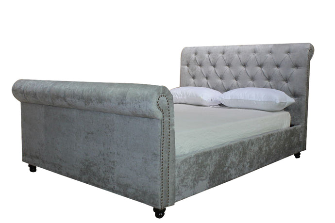 The Artisan Silver Fabric Bed 1134
