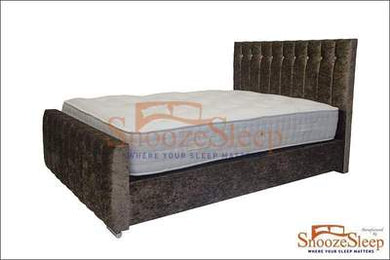 Rome Sleigh Bed (Button)