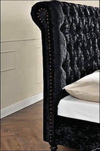 Load image into Gallery viewer, Marylebone Sleigh Bed (Diamantes)