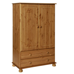 The Copenhagen 2 Door 2 Drawer Combi Wardrobe Pine