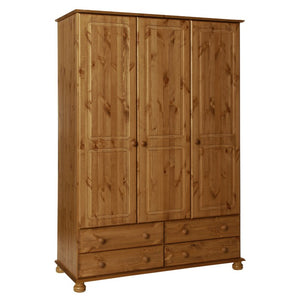 The Copenhagen 3 Door 4 Drawer Wardrobe Pine