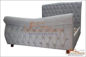 Elite Sleigh Bed (Diamante)