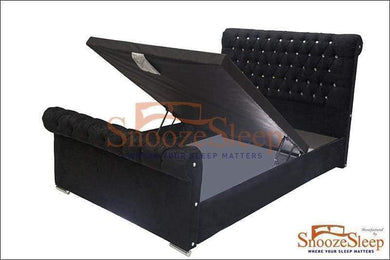 Chesterfield Ottoman Sleigh Bed (Buttons)