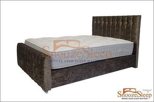 Rome Ottoman Sleigh Bed (Buttons)