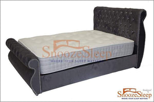 Swan Sleigh Bed (Diamante's)