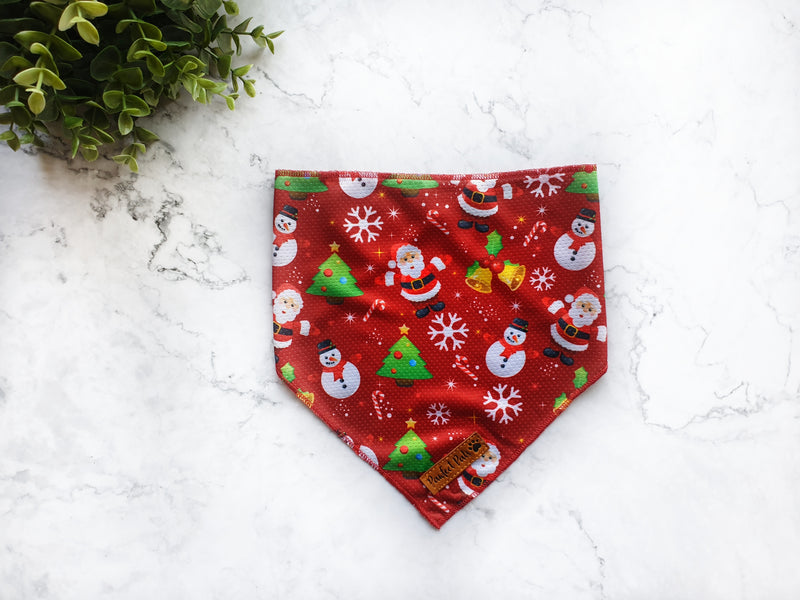 'Merry and Bright' Christmas Bandana
