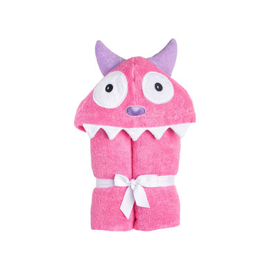 Monster Pink Hooded Towel - Yikes Twins