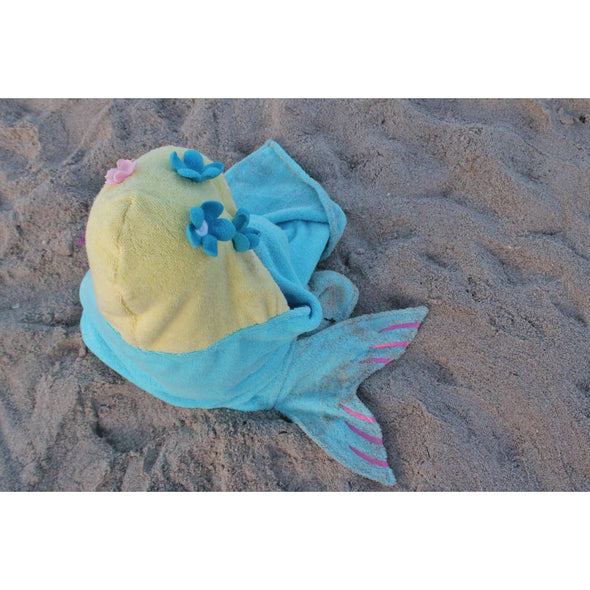 Mermaid Hooded Towel - Yikes Twins