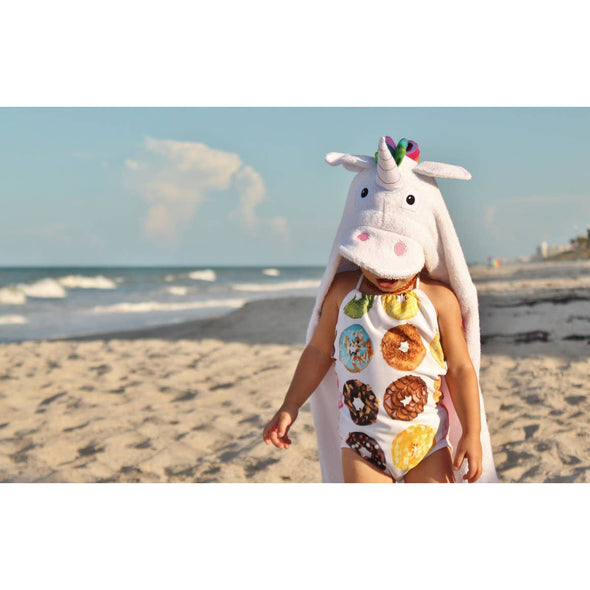 Unicorn Hooded Towel - Yikes Twins