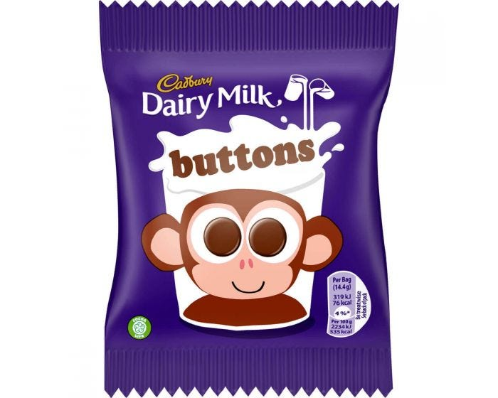 Cadbury Buttons Small Pack 14.4g