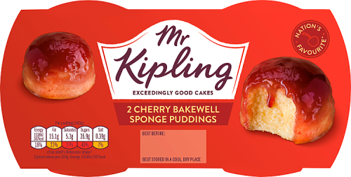 Mr Kipling Sponge Puddings Cherry Bakewell 190g