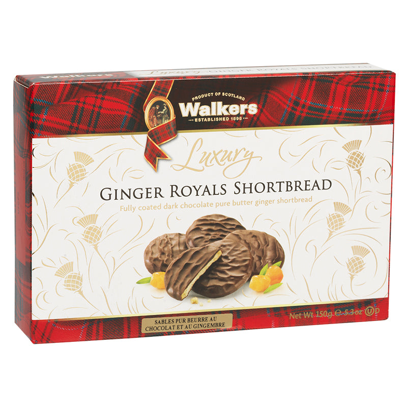 Walkers Luxury Ginger Royals 150g