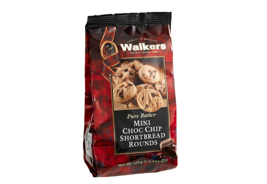 Walkers Mini Chocolate Chip Shortbread 125g
