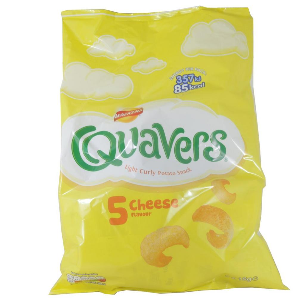 Walkers Quavers Cheese 5x16g