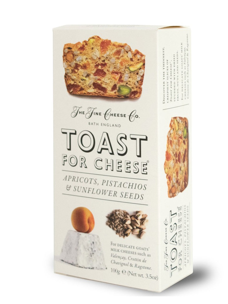 The Fine Cheese Co - Toast for Cheese - Apricots, Pistachios and Sunflower Seeds 100g - BritShop