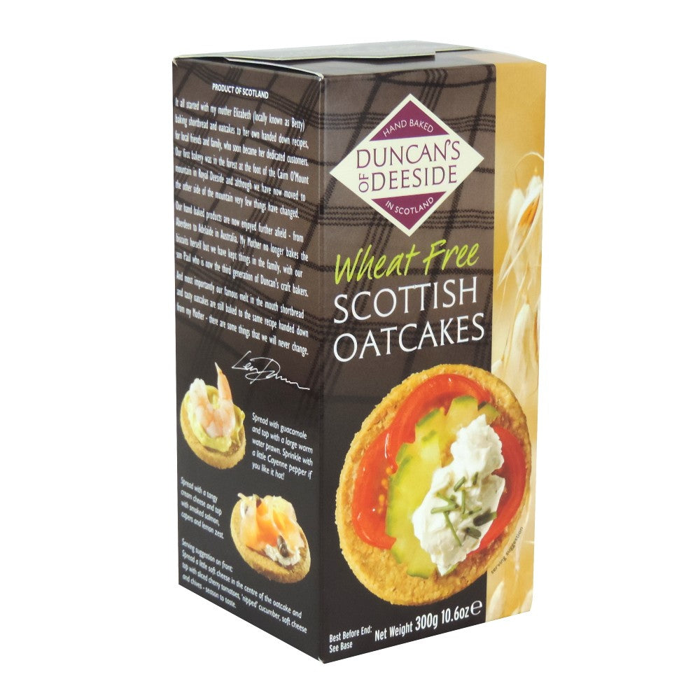 Duncan's of Deeside Wheat Free Scottish Oatcakes 200g - BritShop