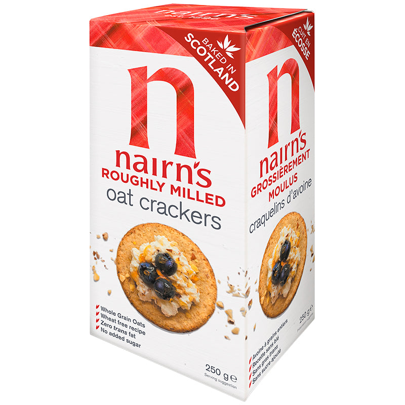 Nairns Roughly Milled Oat Crackers 250g