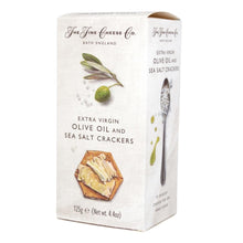 The Fine Cheese Co - Extra Virgin Olive Oil and Sea Salt Crackers 125g - BritShop
