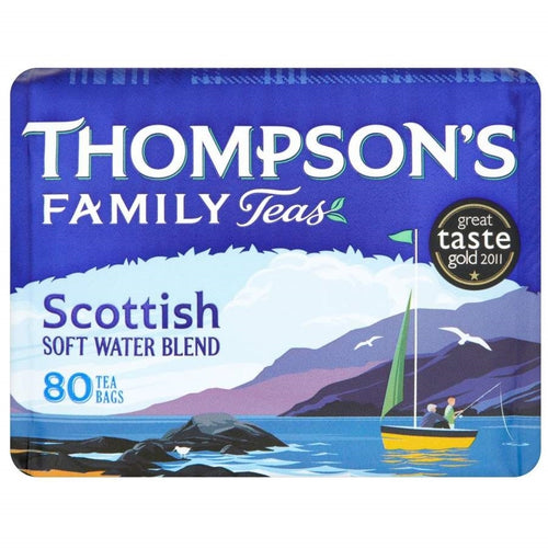 Thompsons Punjana Scottish Blend Tea Bags 80s - BritShop