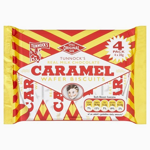 Tunnock's Caramel Wafers 4 Pack - BritShop