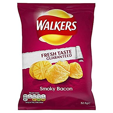 Walkers Crisps Smoky Bacon 32.5g - BritShop
