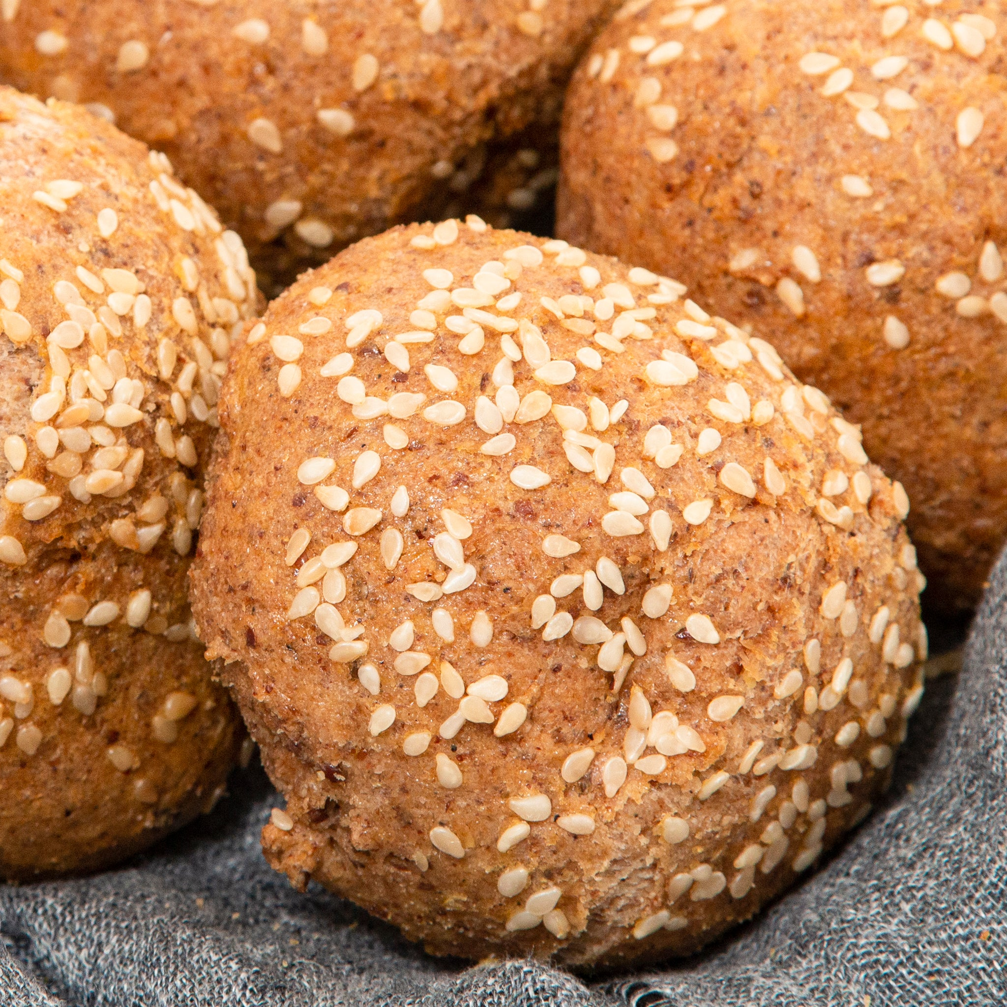 Now LARGER! Sesame Dinner Rolls / Slider Buns (12 Per Order)