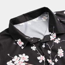 Load image into Gallery viewer, Mens Summer Fashion Plum Floral Printed Shirts
